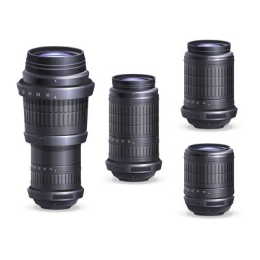 Set of digital camera lenses