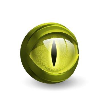 Halloween snake eye isolated