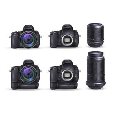 Realistic digital camera and photo lens