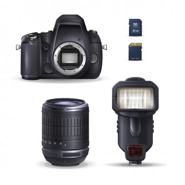 Realistic digital camera and accessories