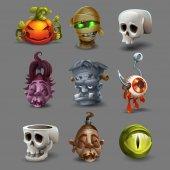 Strašidelné Halloween ikony