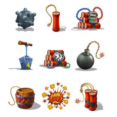 Set of Explosive Icons