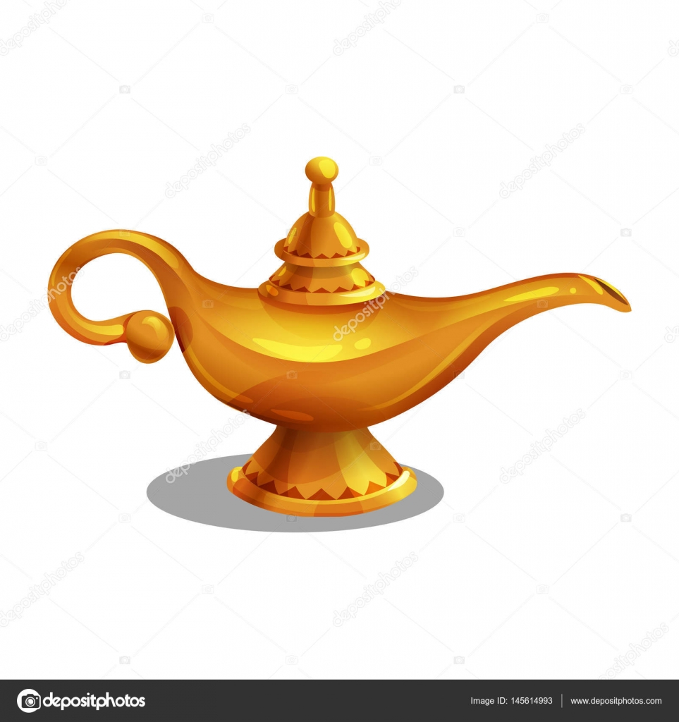 Lampe Magique Avec Genie Image Vectorielle Mrdeymos C 145614993