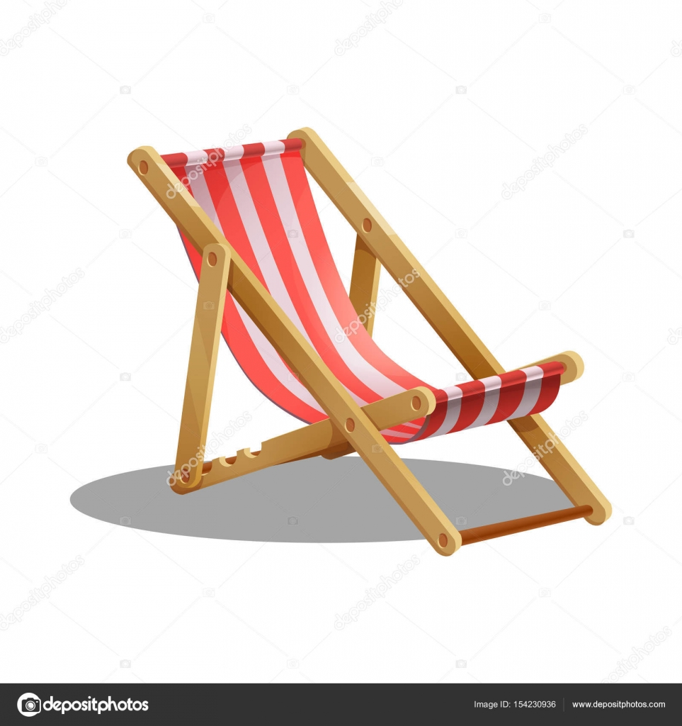 Cartoon Beach Chair Stock Vector 169 Mrdeymos 154230936