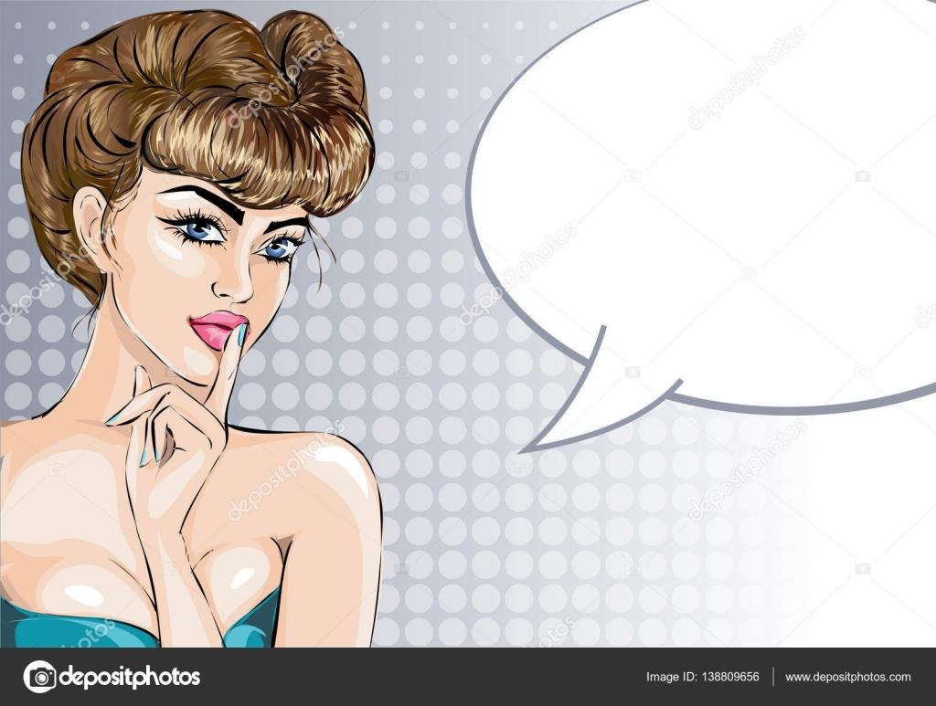 Сексуальный жест палец у губ