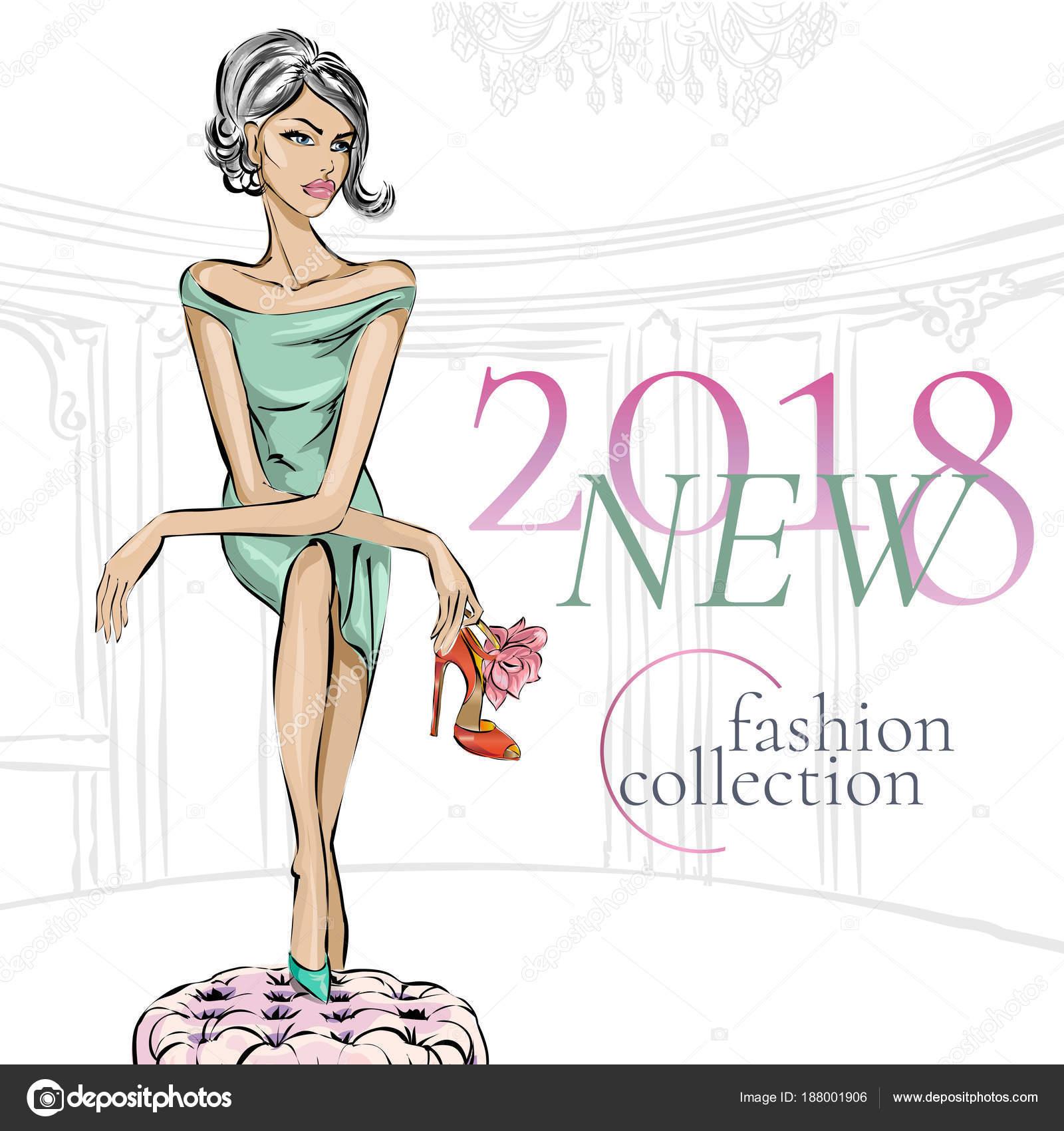 7c32d8eaed0d Scarpe shopping, lusso moda donna, illustrazione clipart arte insieme  vettoriale - immagini: scarpa tacco clipart — Vettoriali di SofiaPink