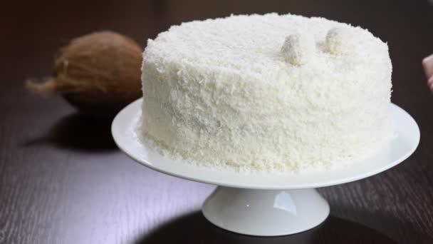 Dekorieren Sie Den Kuchen Raffaello Stockvideo C Mariko19962