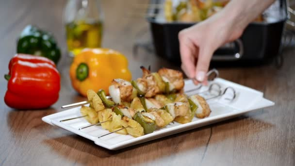 Předkrm kuřecí kebab se zeleninou