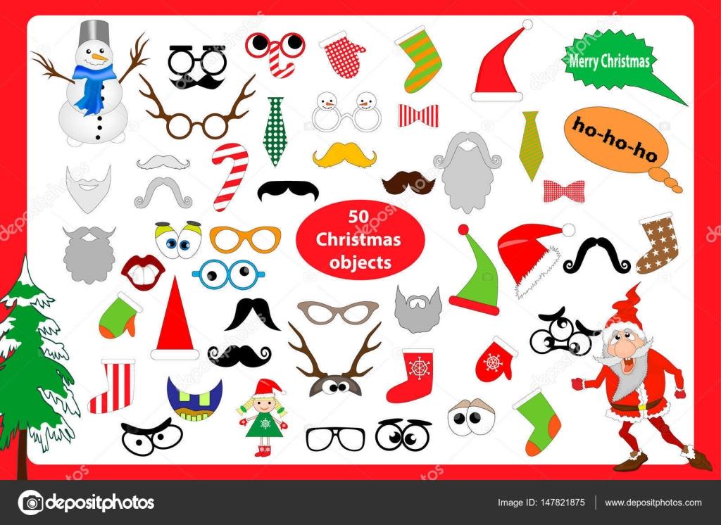 クリスマス写真ブースやスクラップブッ キングはベクター セットです