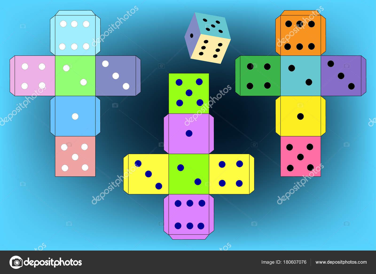 Dice games paper dice template vector stock vector sakurra dice for games paper dice template vector vector by sakurra maxwellsz
