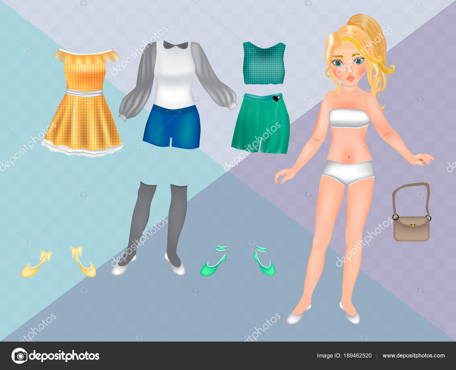photo about Paper Doll Clothes Printable named Vector: paper dolls lower out template Paper Dolls Clothing