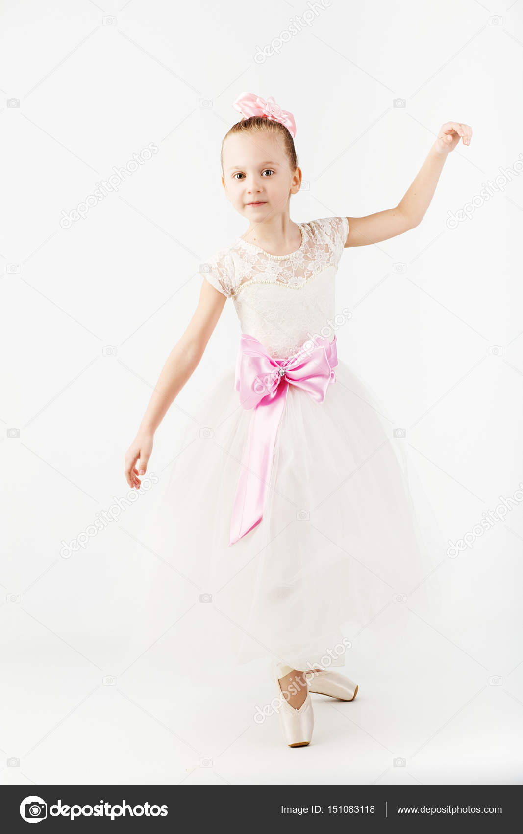 005101b64 Beautiful ballet dancer isolated on white background. — Stock Photo ...