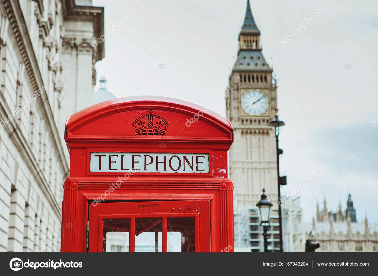 d547e6a3fe7 caixa de telefone vermelho e big ben. Londres