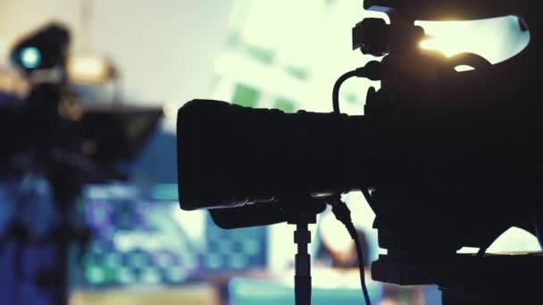 Televíziós kamera közelről Studio Hírek