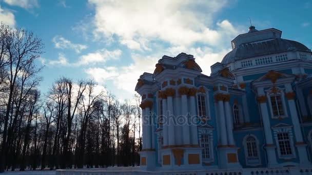 Catherine Park v Puškin v zimě