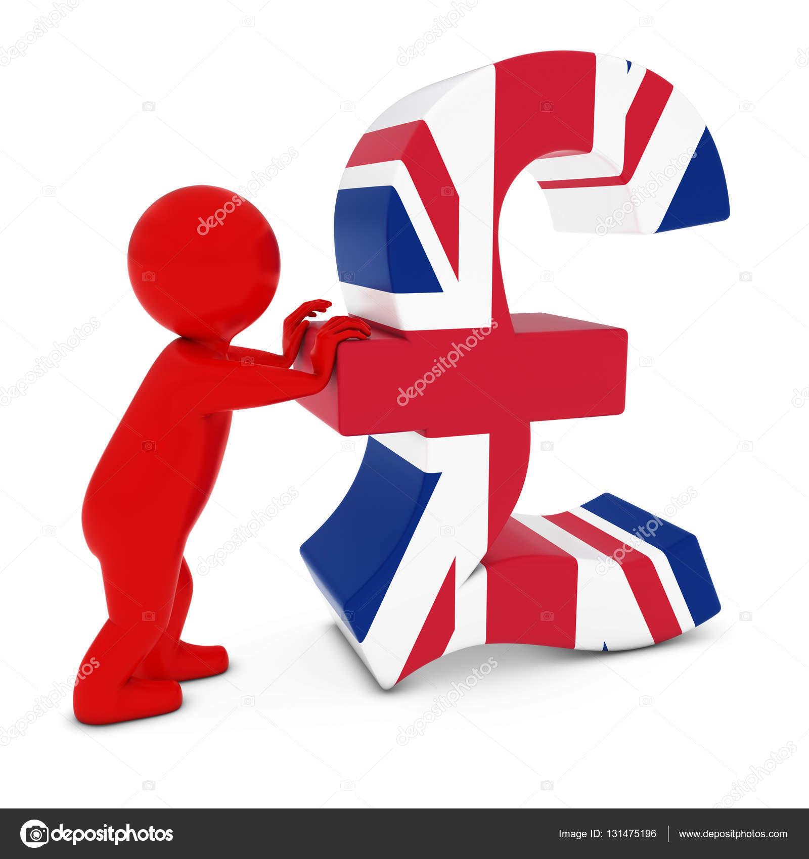 3d man character pushing uk flag pound symbol 3d illustration 3d man character pushing uk flag pound symbol 3d illustration photo by fredex buycottarizona