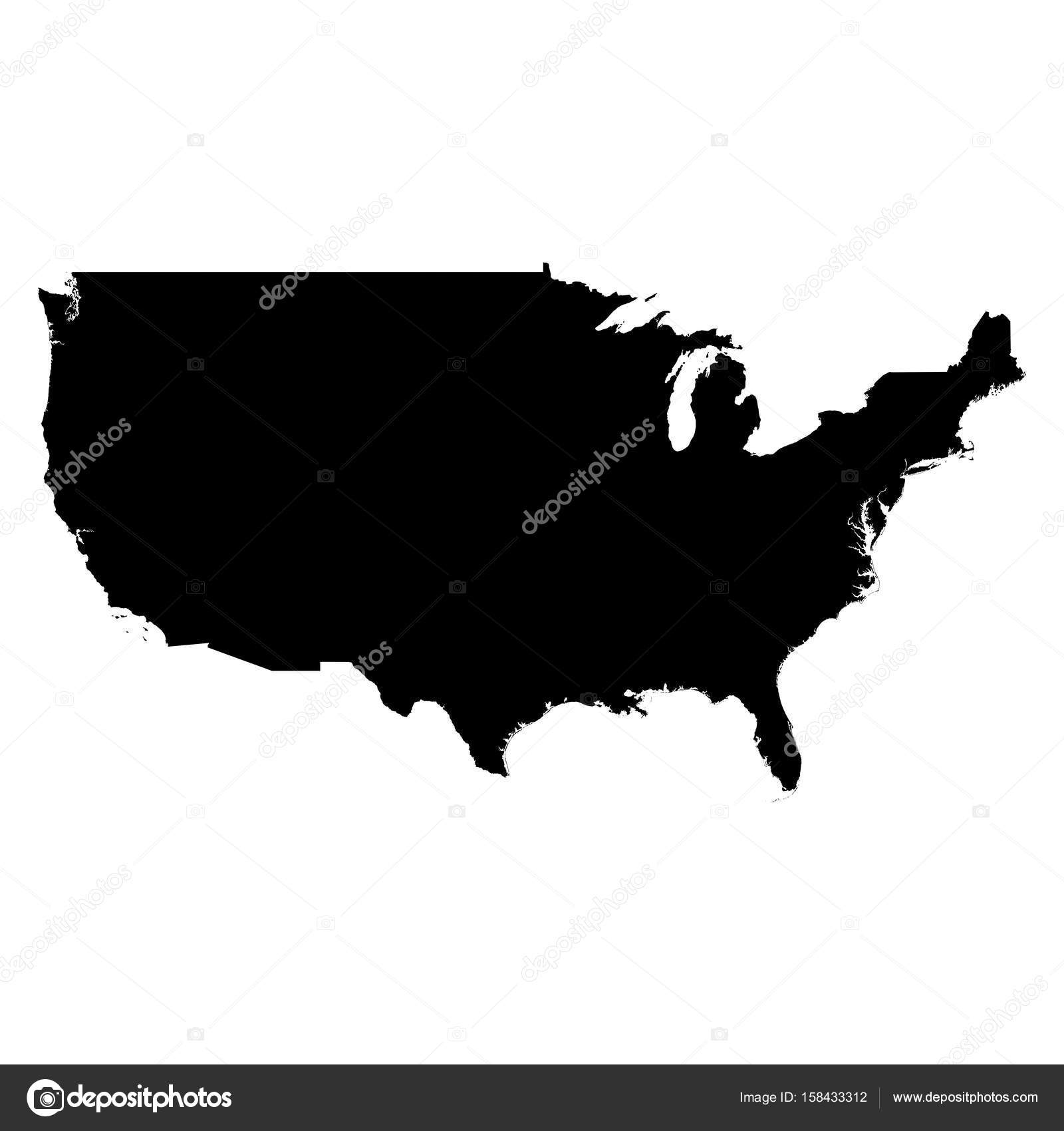 Usa Map Outline With States Picture