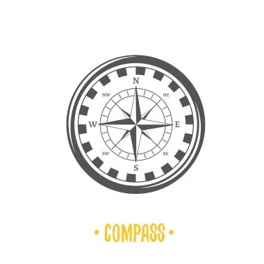 Illustration of compass.