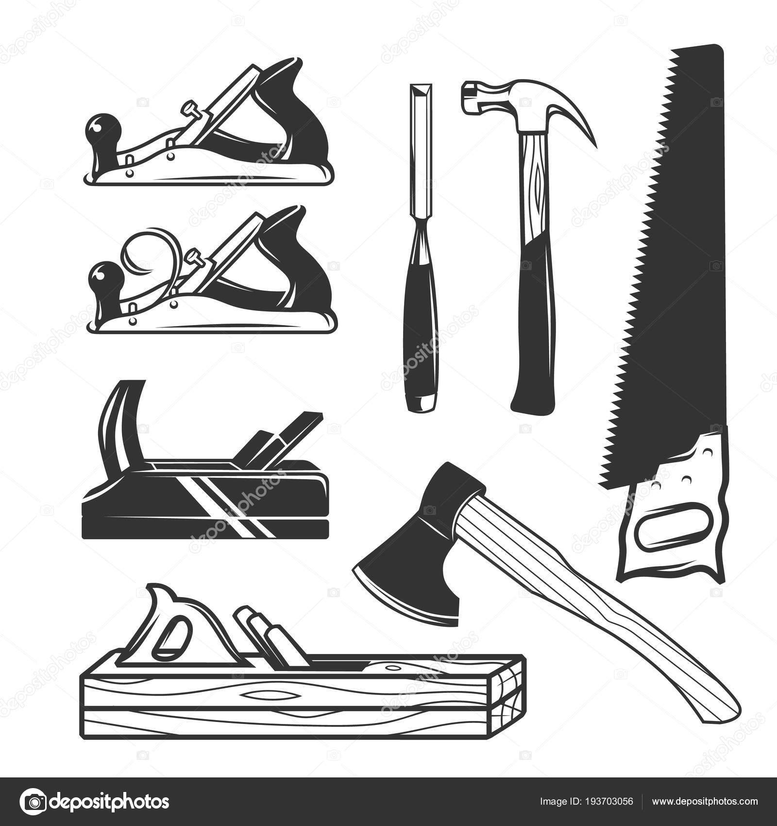 大工道具ロゴのテンプレート ストックベクター Goodgraphic 193703056
