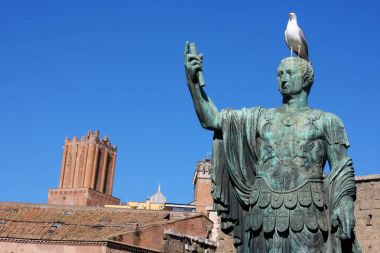 Statue of Julius Caesar that is near Trajan's Forum, Rome, Italy