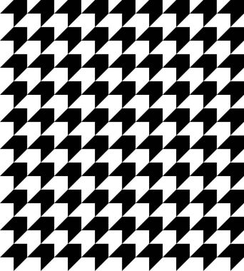 Black and white houndstooth pattern vector.
