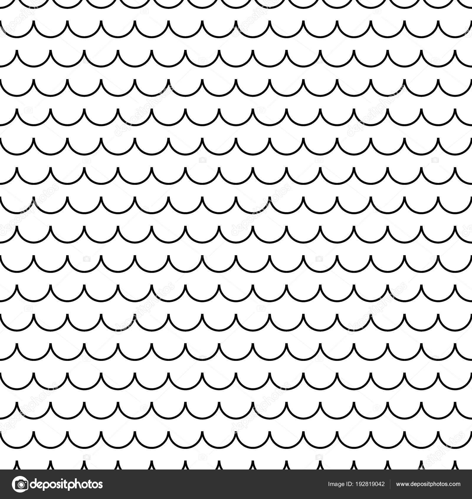 Pez geométrica escamas chino de patrones sin fisuras. Fondo de ...