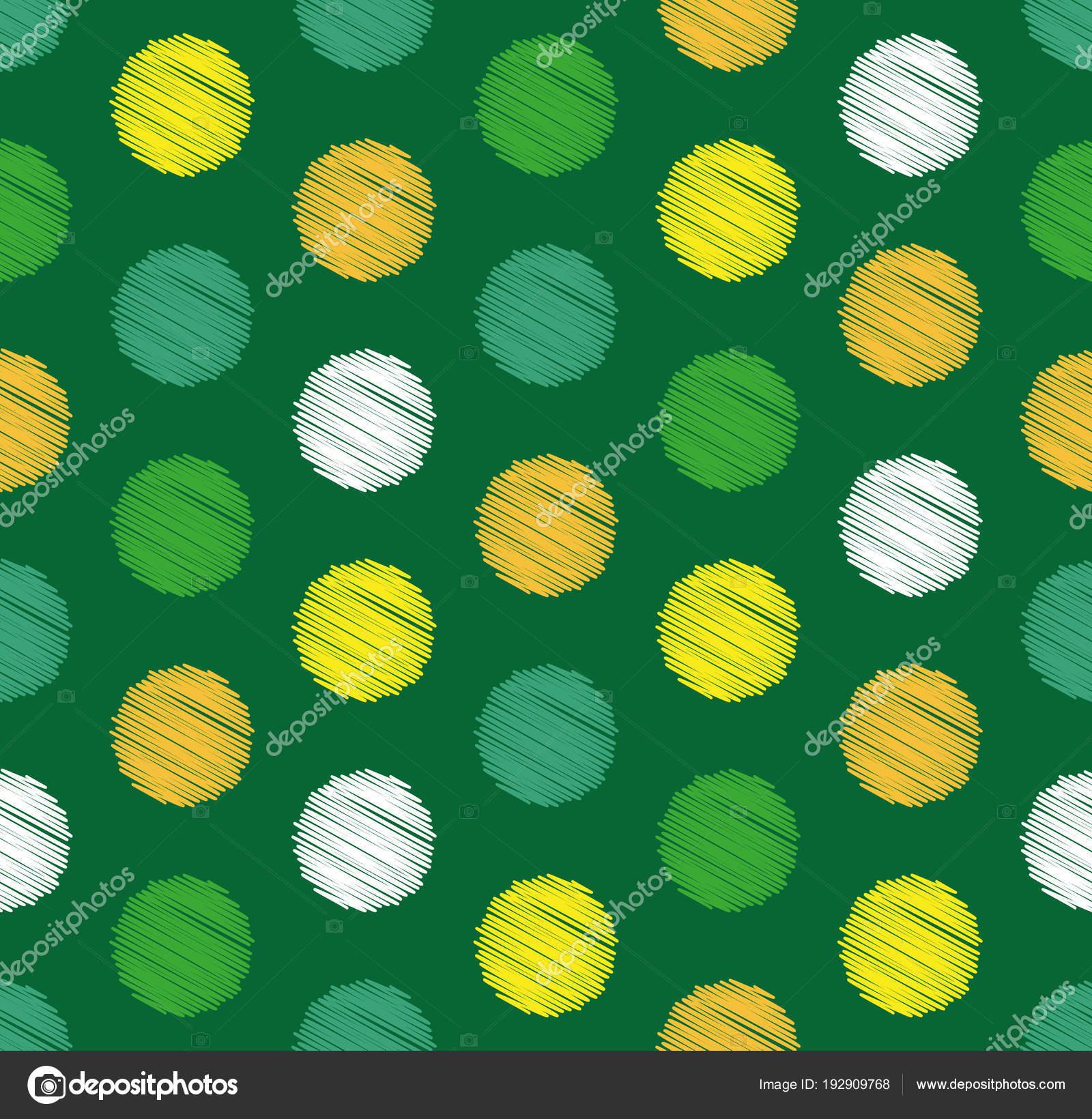 Puntos círculo sin fisuras patrón geométrico, fondo. Estilo de ...