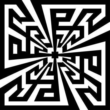 Greek key art background. Vector and illustration.