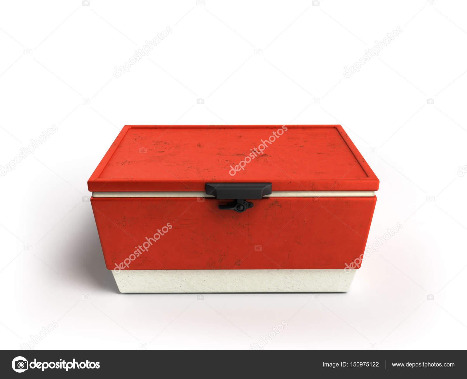 Kühlschrank Rot : Strand kühlschrank cooler rot 3d rendern auf einem weißen