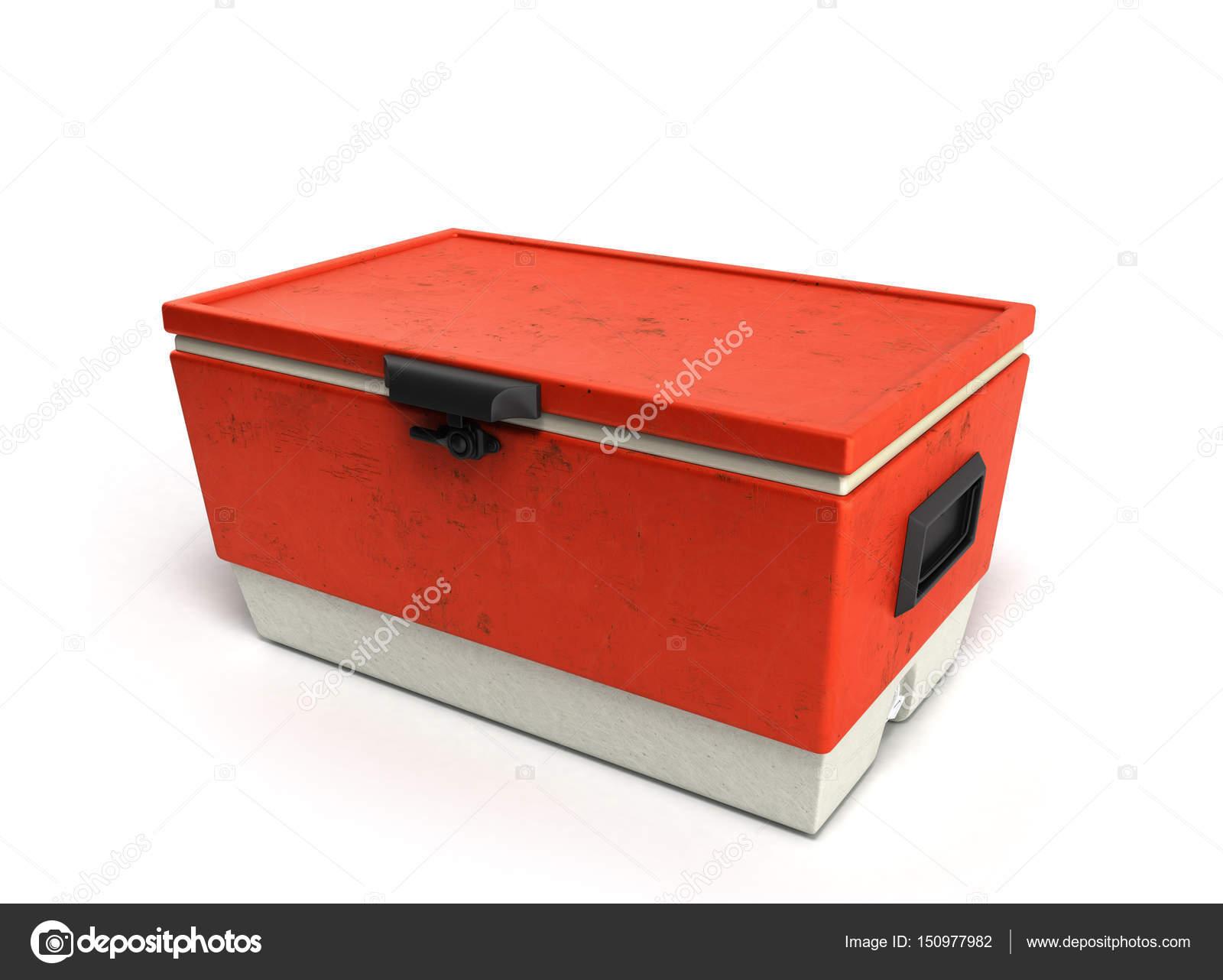 Kühlschrank In Rot : Strand kühlschrank cooler rot d rendern auf einem weißen