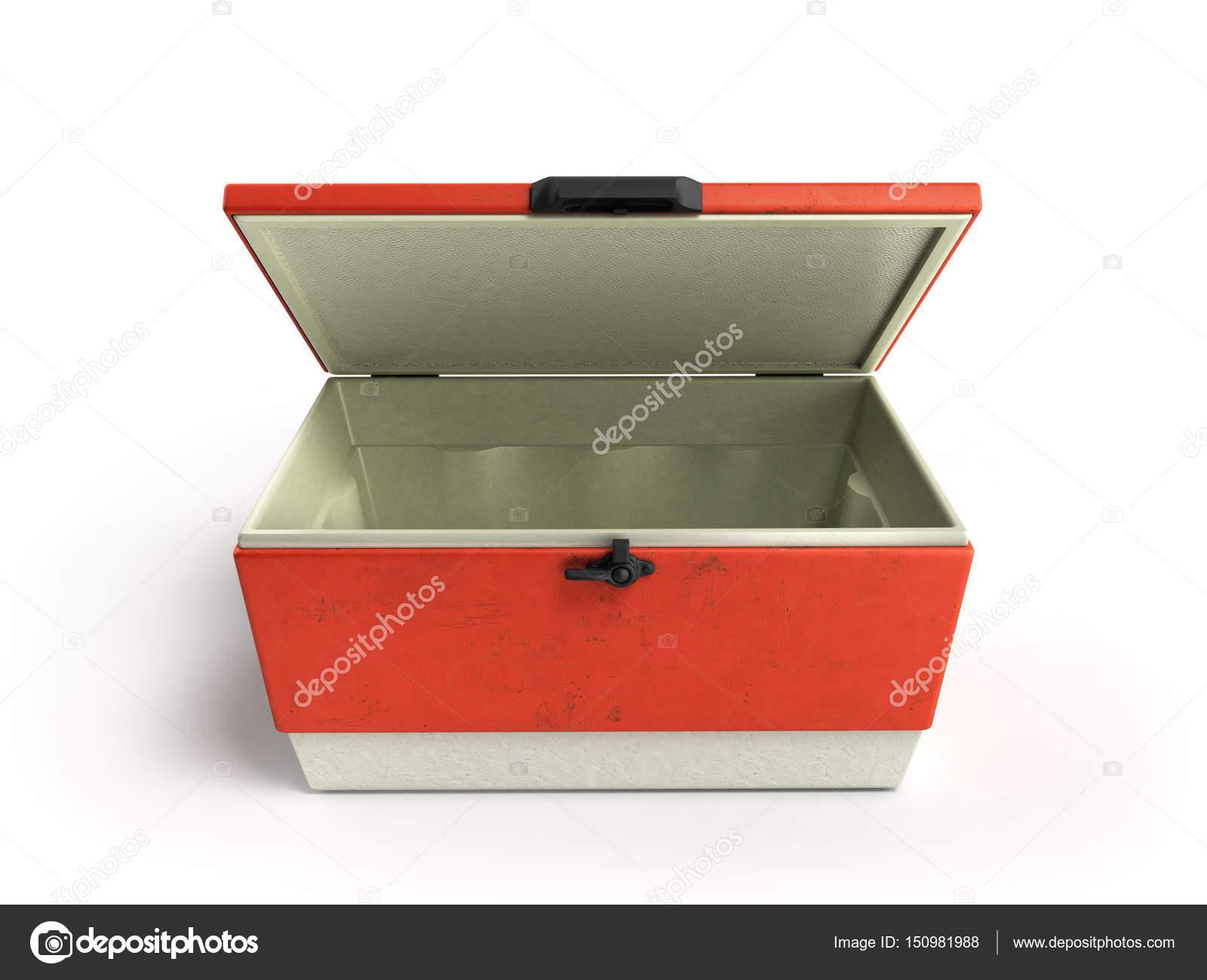 Kühlschrank In Rot : Öffnen sie strand kühlschrank cooler rot d render auf einem