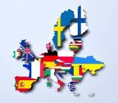 Európai Unió politikai megjelenítése 3d renderelt kép