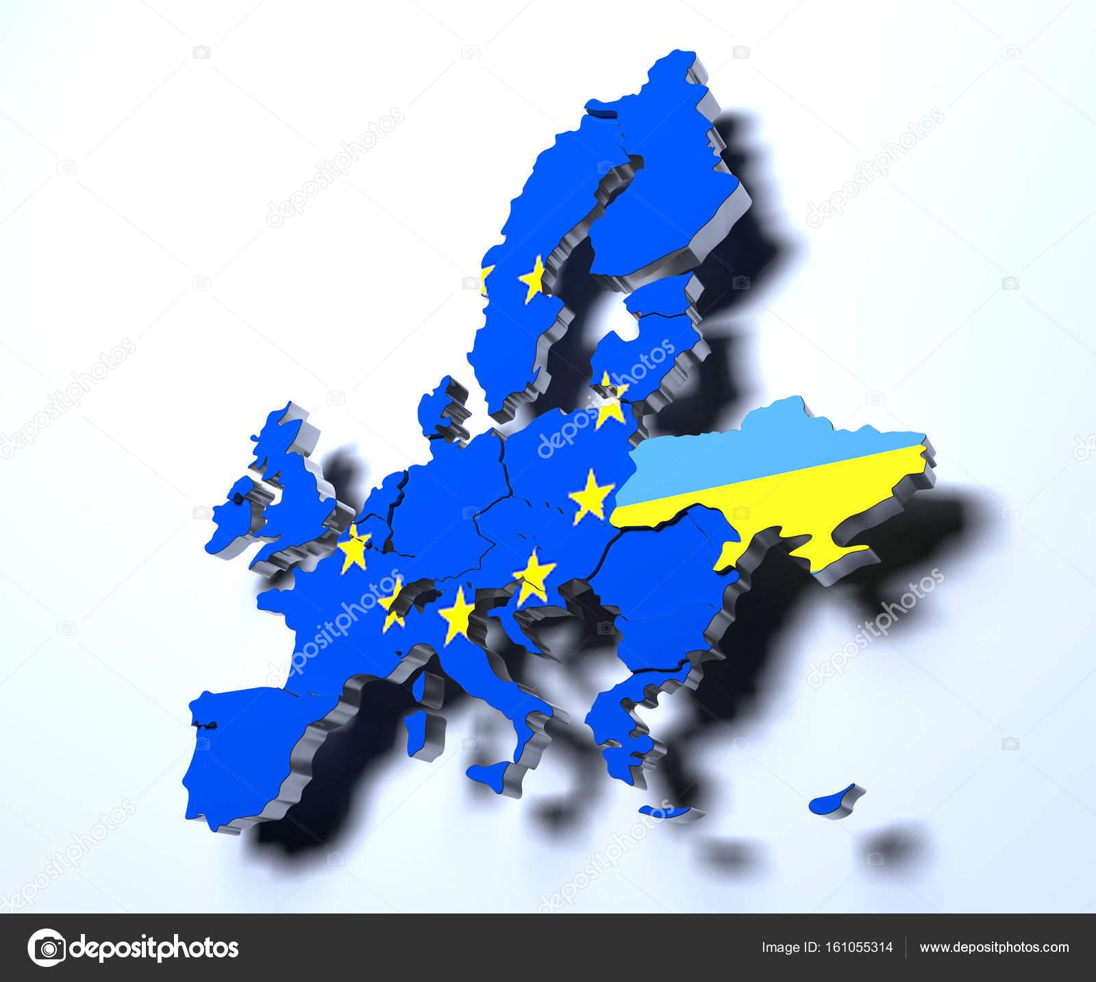 欧州連合の政治地図グラデーショ...