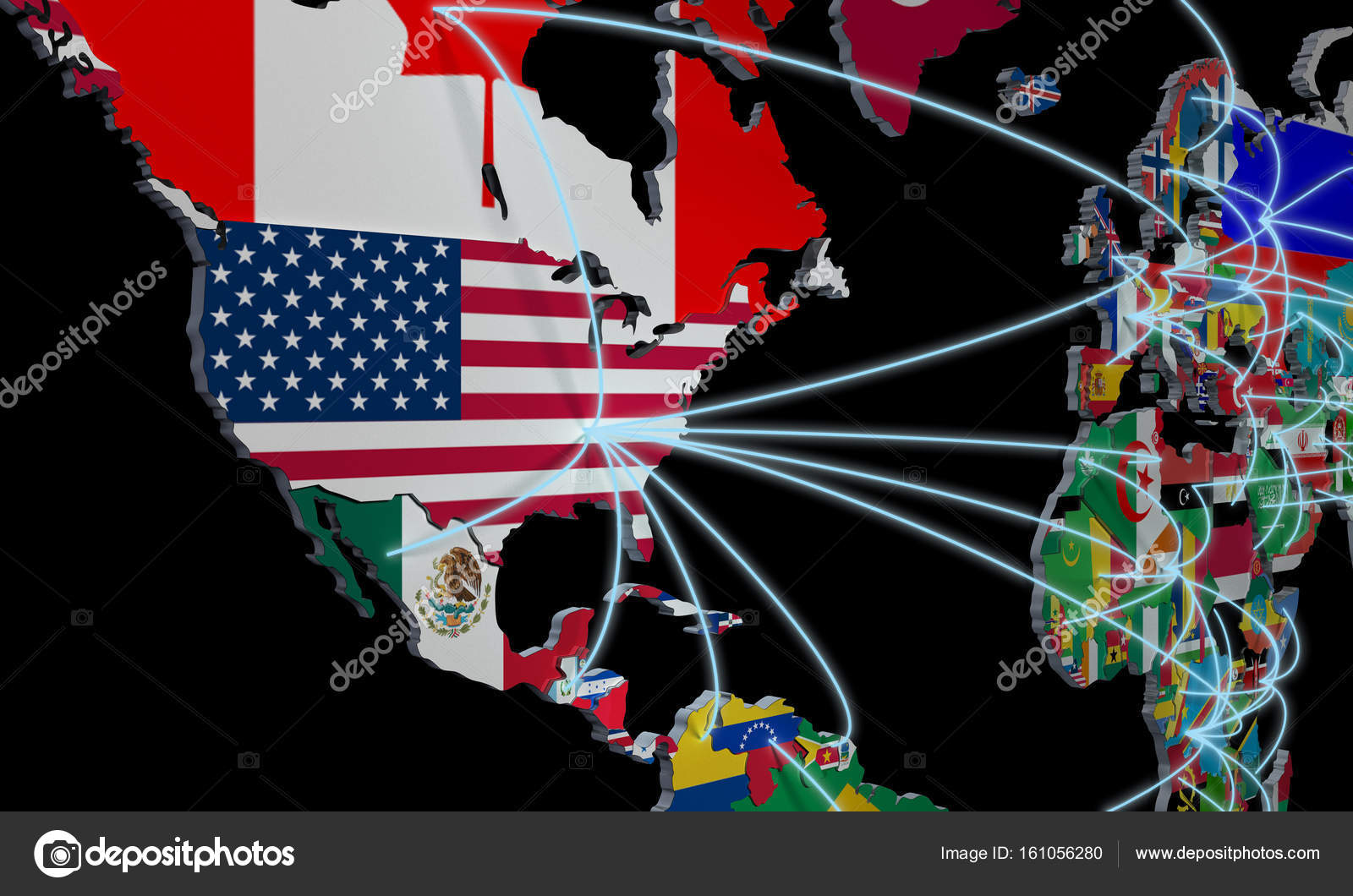 Online shopping in world map 3d illustration on black stock photo online shopping in world map 3d illustration on black stock photo gumiabroncs Gallery