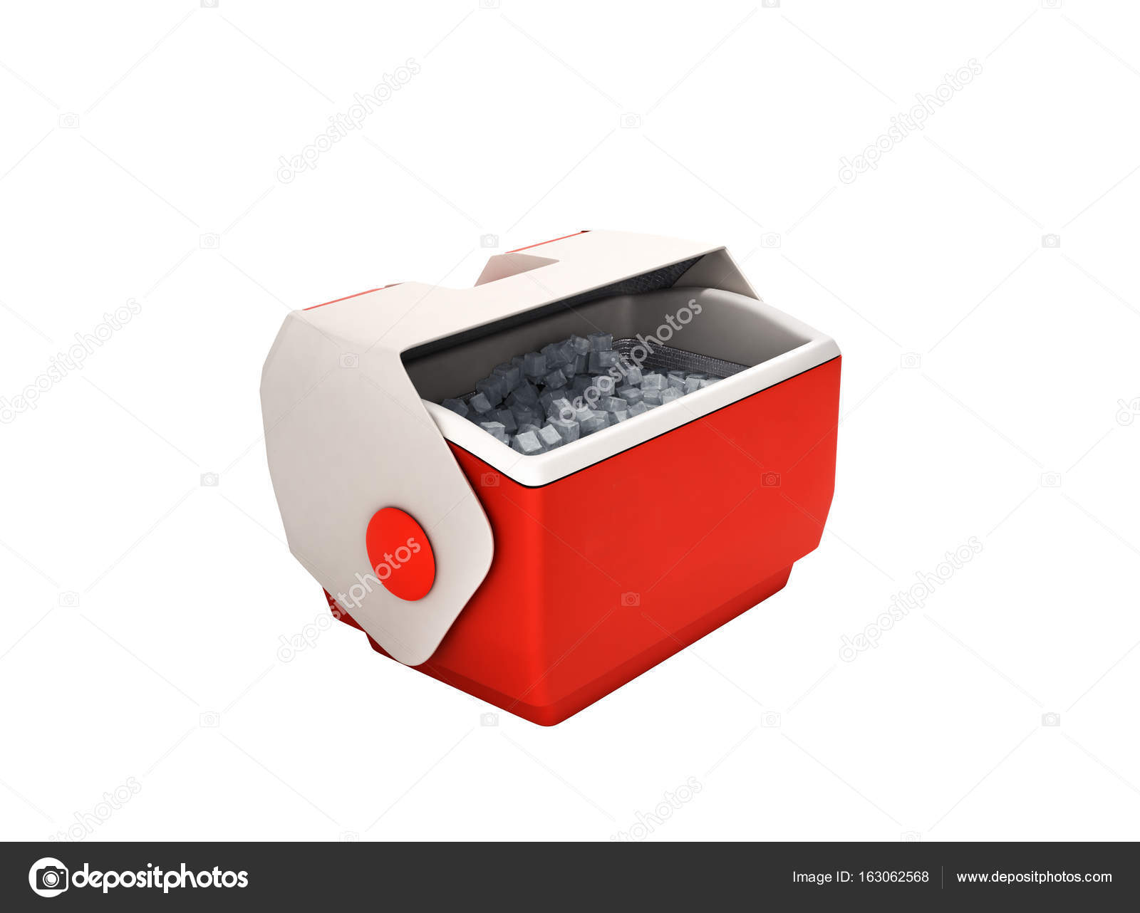 Kühlschrank Box : Offenen kühlschrank box rot d rendern ohne schatten u stockfoto