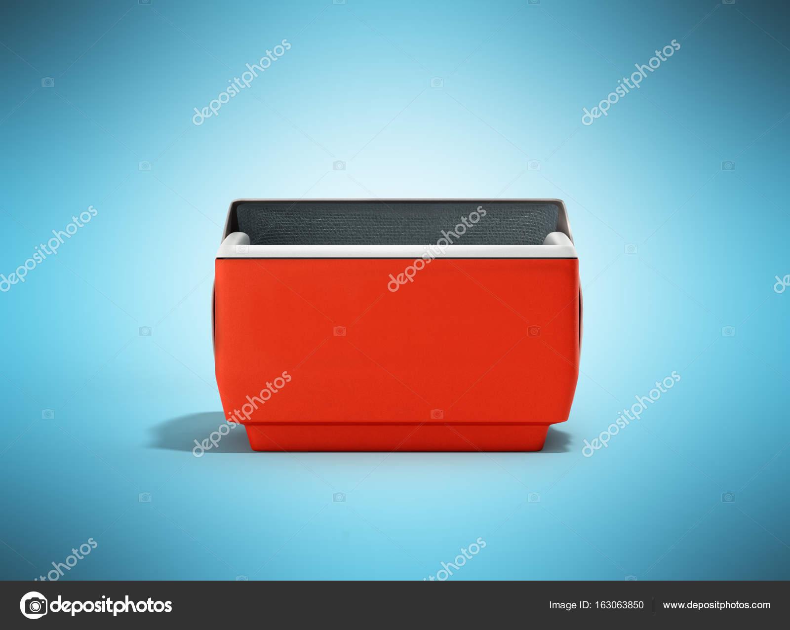 Kühlschrank Quadratisch : Offenen kühlschrank box rot 3d render auf blauem hintergrund