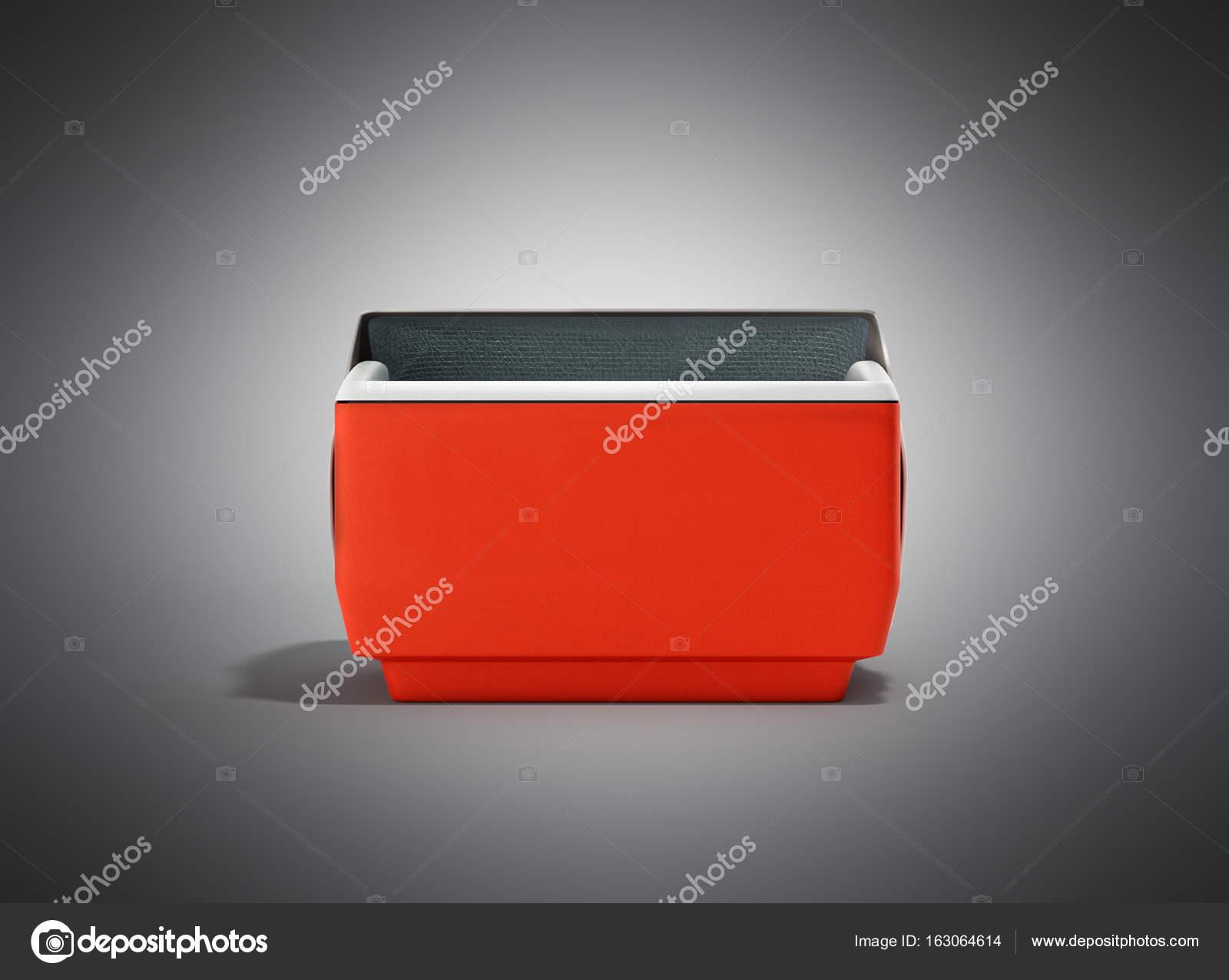 Kühlschrank Box : Offenen kühlschrank box rot d render auf grauem hintergrund