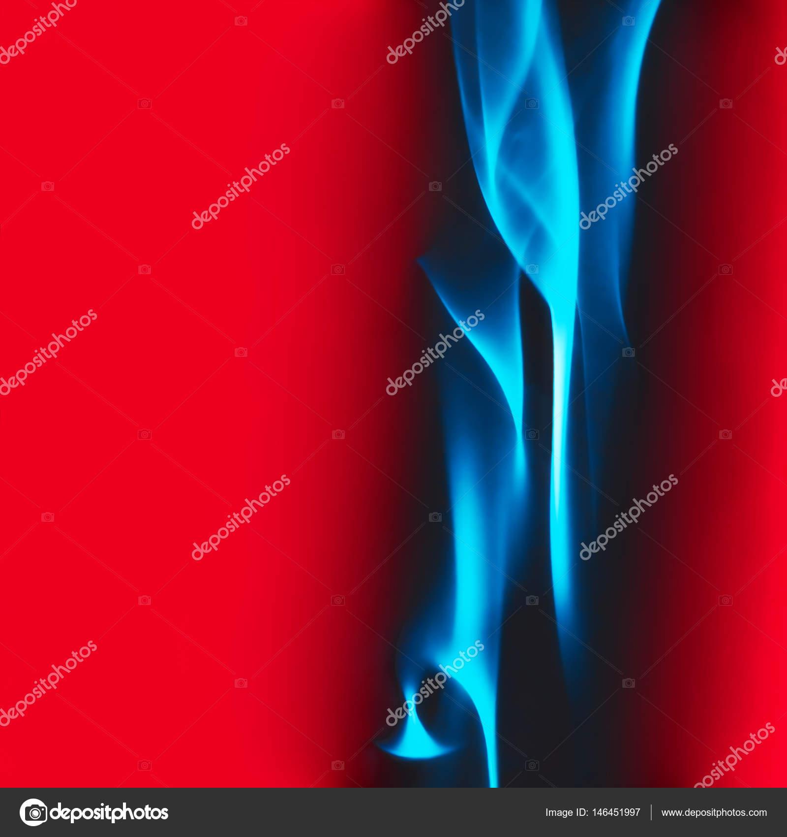 Blue Smoke On A Red Background Stock Photo C Palana 146451997