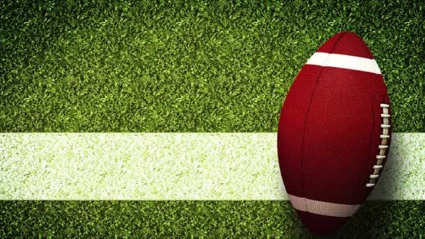 Americká fotbalová helma Super Bowl Game On Field Stadium zelená tráva Pozadí