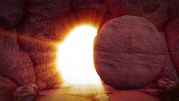 Ježíš povstal Koruna trnů Kalvárie kopec Kristus byl ukřižován Velikonoční Golgota Kámen pomazání Ježíšův hrob