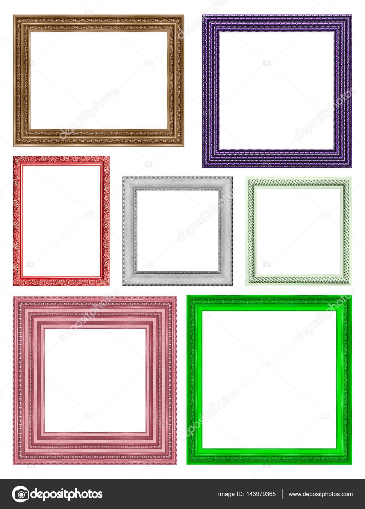 marco cuadro marco madera tallada patrón aislado en un blanco ba ...