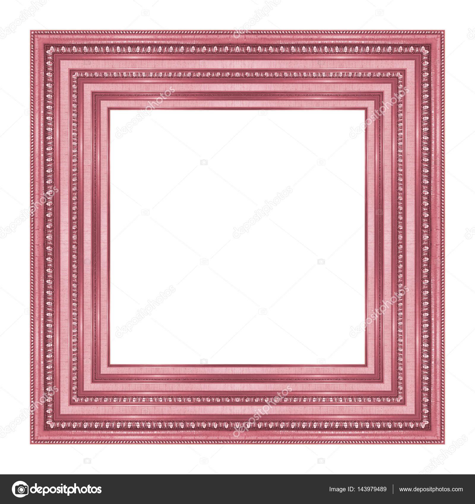 cuadro marco madera tallada patrón aislado en un blanco backgrou ...