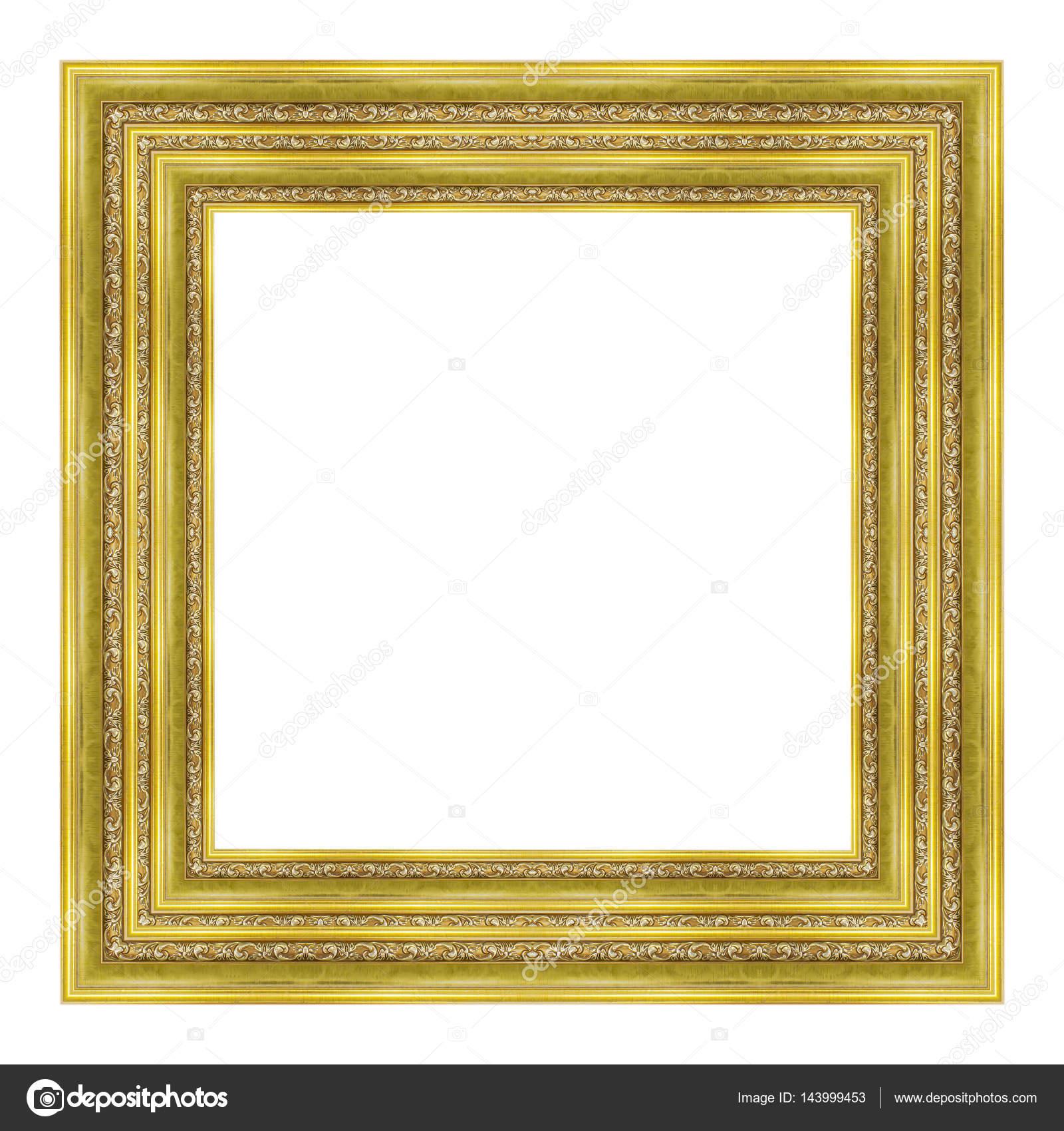 patrón de marco de madera tallada de marco de cuadro aislado sobre ...