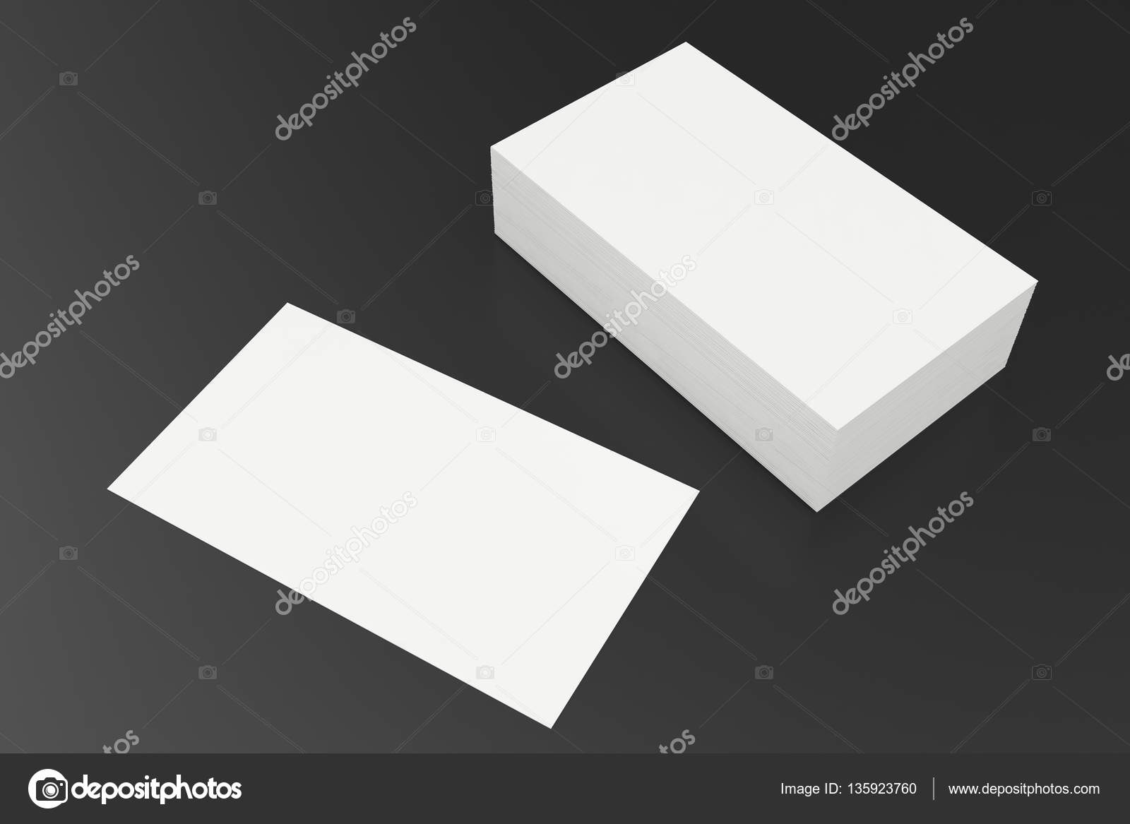 Business cards blank mockup template on balck background 3d business cards blank mockup template on balck background 3d rendering stock photo reheart Image collections