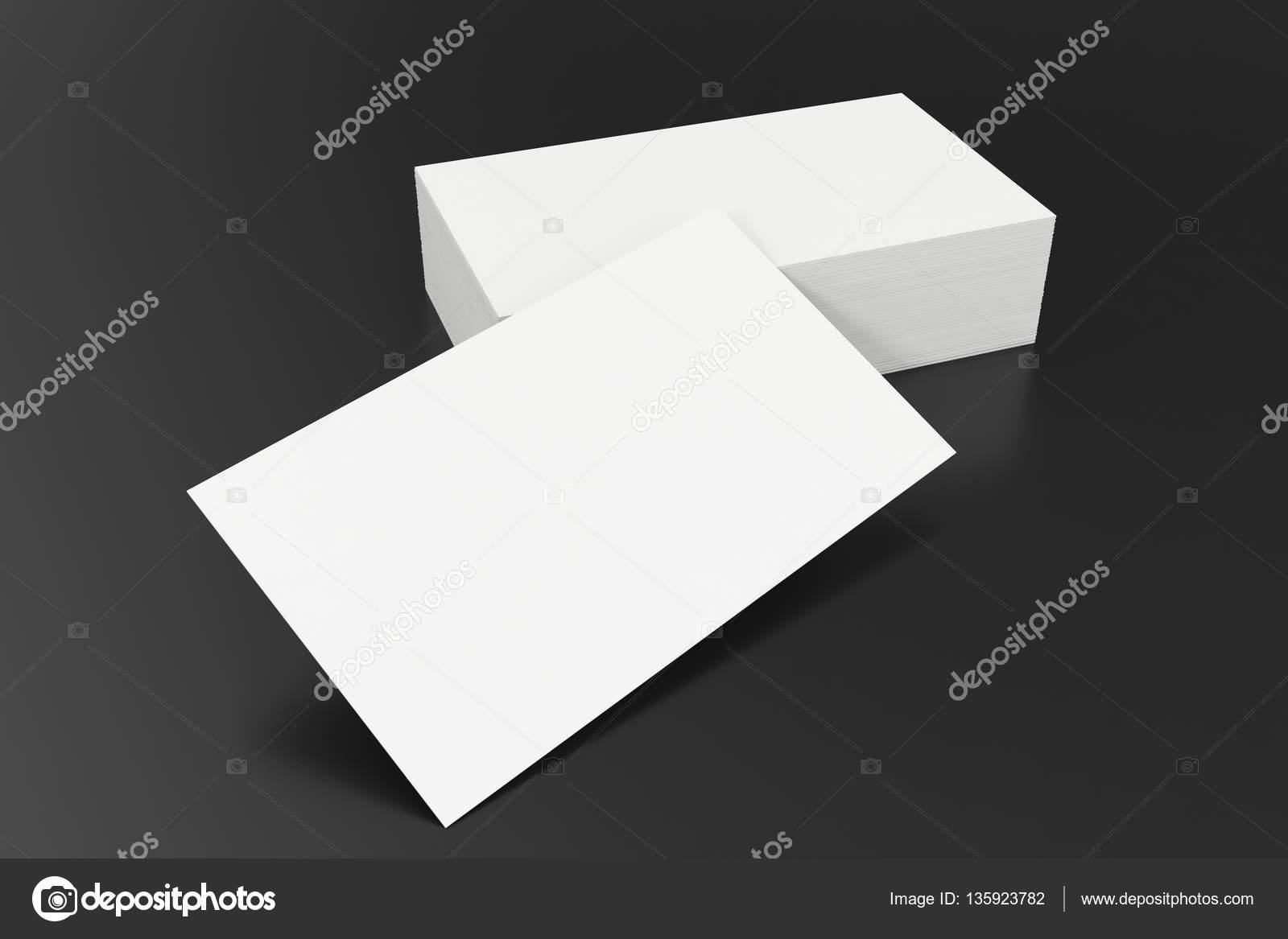 Leere Mockup Visitenkarten Vorlage Auf Balck Hintergrund