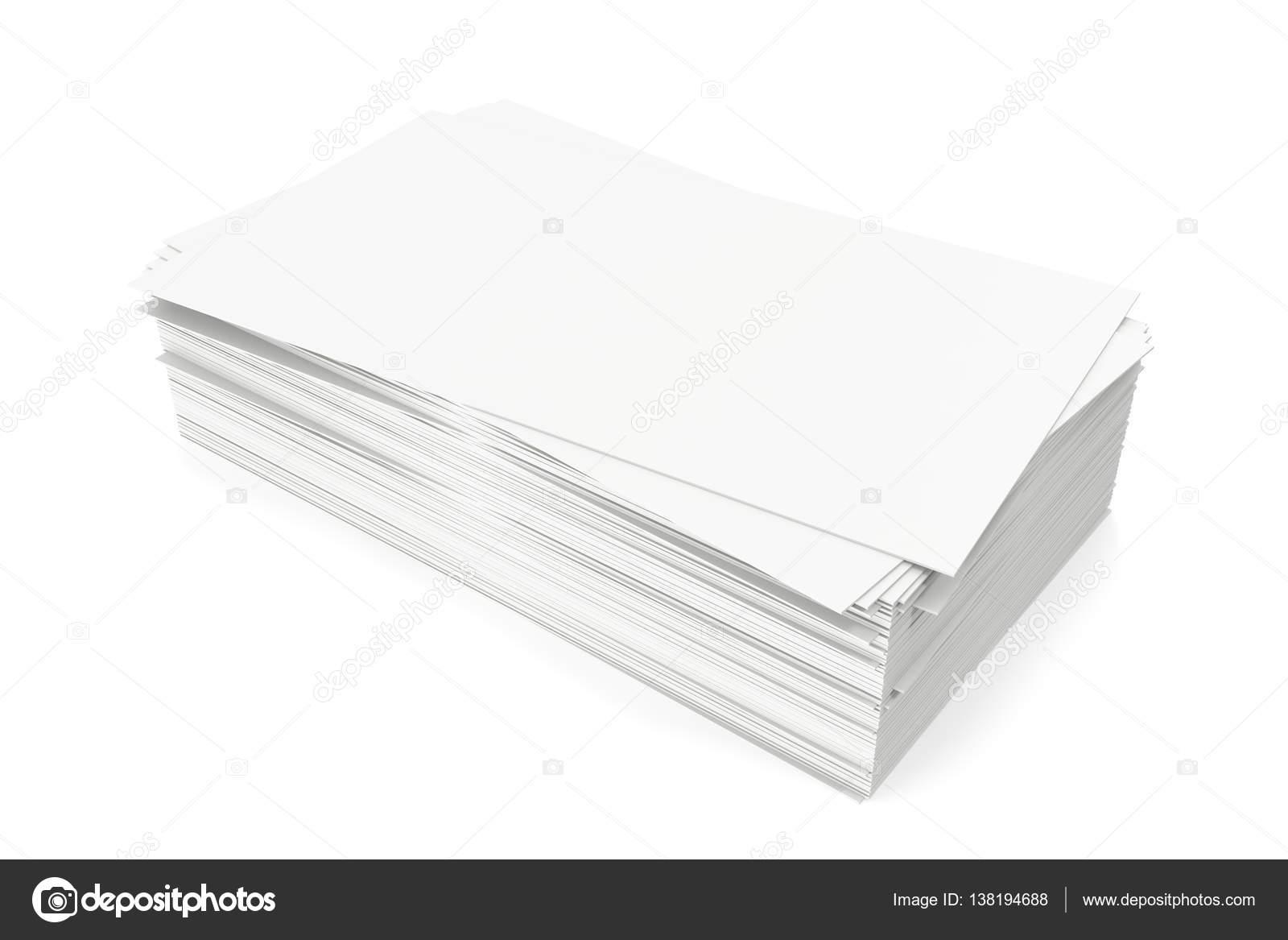 Cartes De Visite Vierge Maquette Modele Sur Fond Blanc Rendu 3d Images Stock Libres Droits