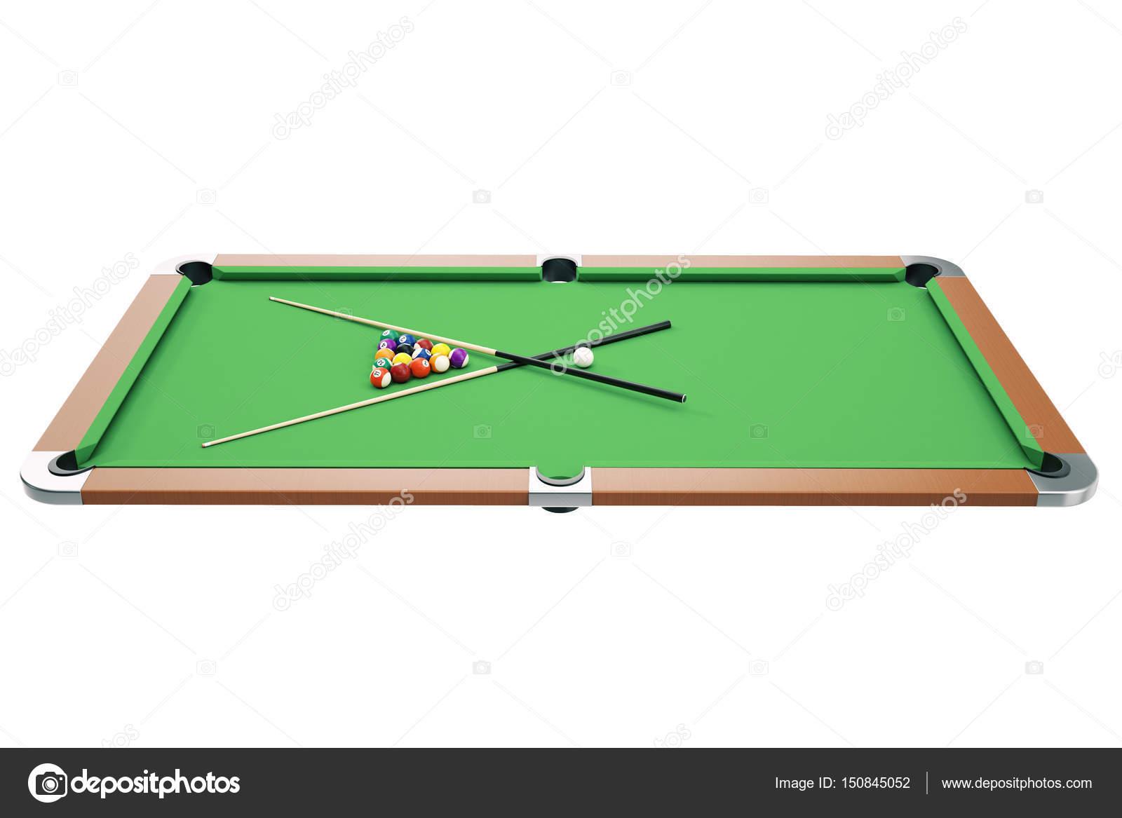 illustrazione 3d americano pool snooker priorità bassa delle sfere ...