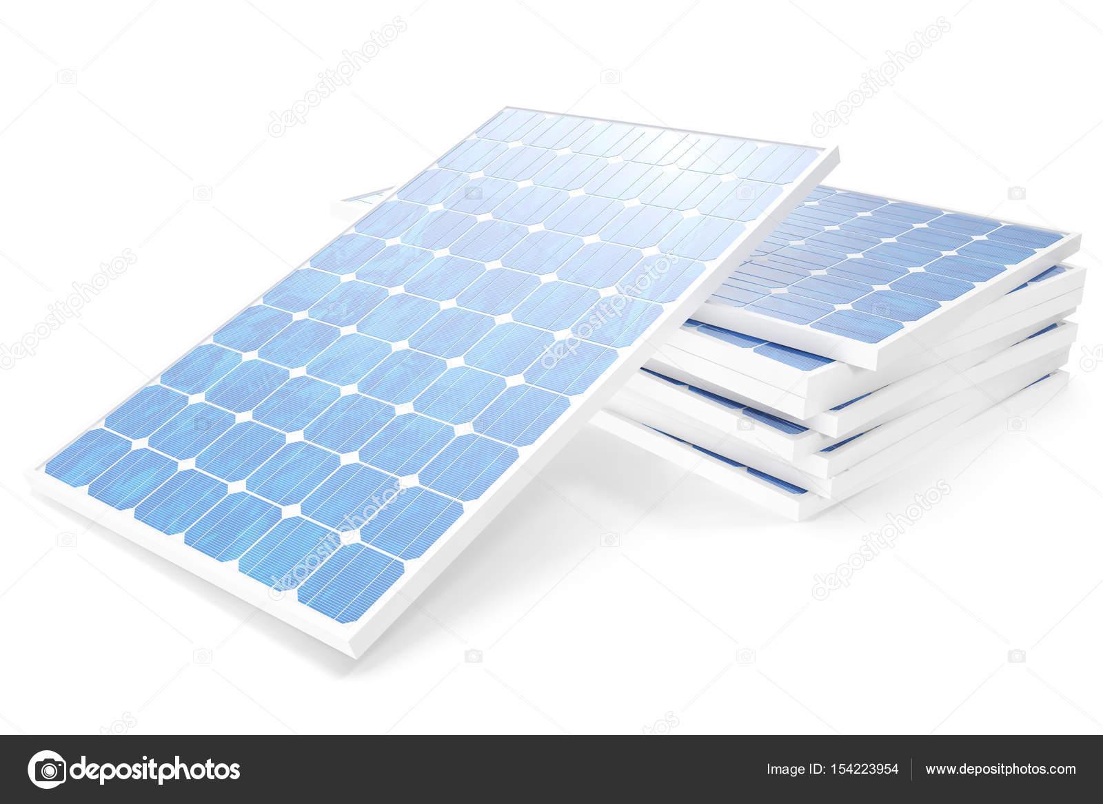 3 D イラスト太陽光発電技術ブルーのソーラー パネルコンセプト代替