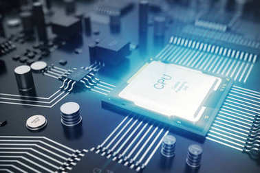 3D rendering Circuit board. Technology background. Central Computer Processors CPU concept. Motherboard digital chip. Tech science EDA background. Integrated communication processor, Information CPU e