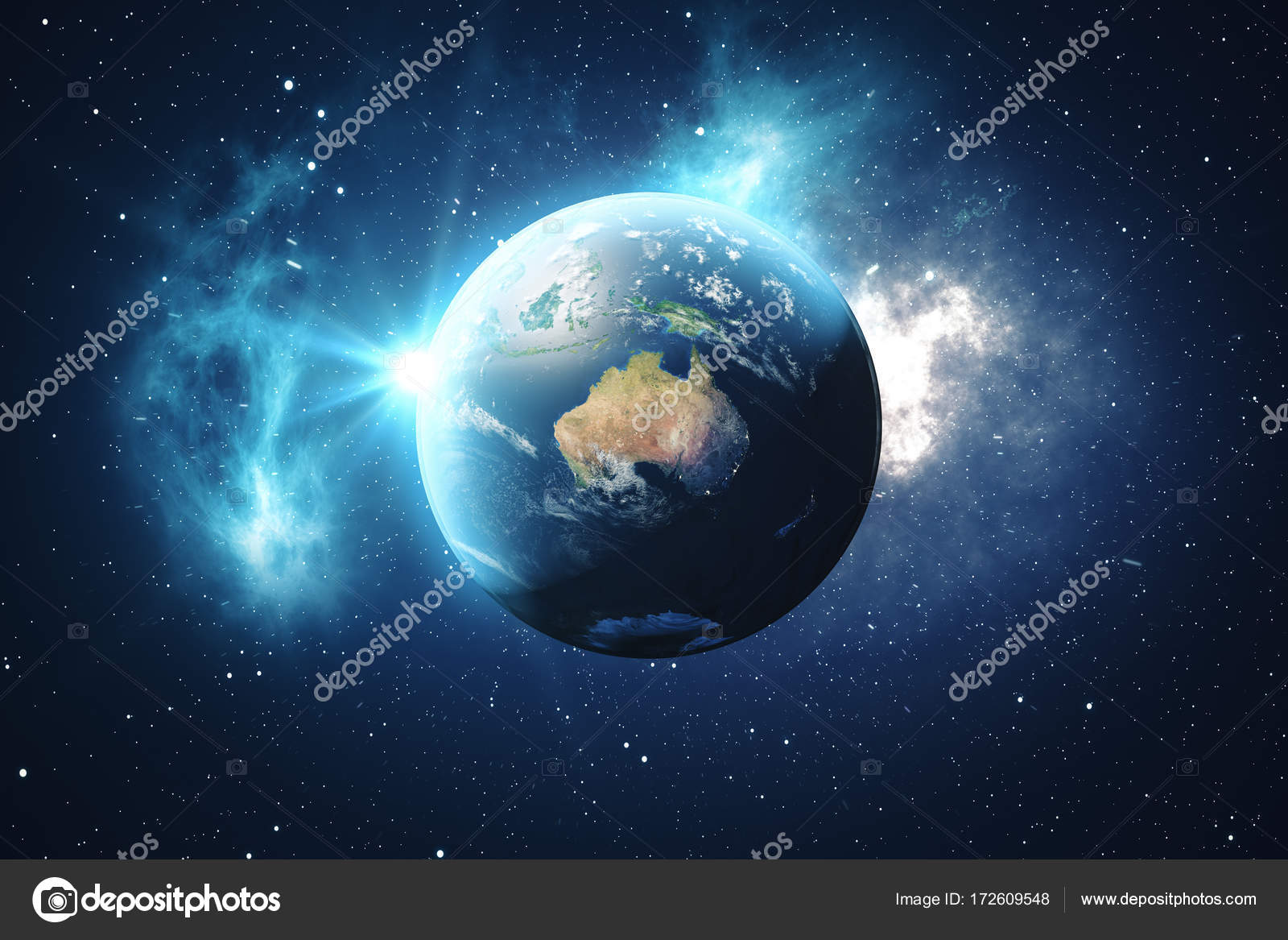 Bezaubernd Weltkugel 3d Das Beste Von Rendering Weltkugel. Erdkugel Mit Hintergrund Sterne Und